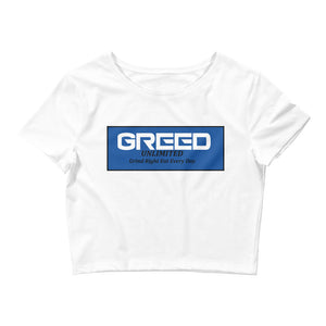 Open image in slideshow, Greed Unlimited Women's Crop Tee