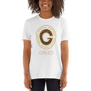 Open image in slideshow, Greed womens T-Shirt
