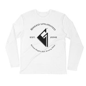 Open image in slideshow, Greed Unlimited Long Sleeve Fitted Crew