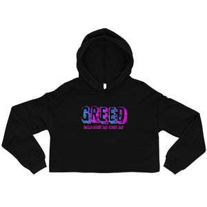 Open image in slideshow, Greed Crop Hoodie