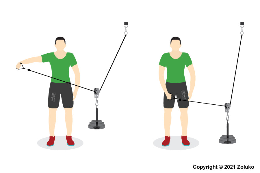 Cable Lateral Raise - Fitness Oefening - Executie / Uitvoering
