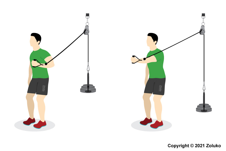 Cable Chest Press - Fitness Oefening - Executie / Uitvoering
