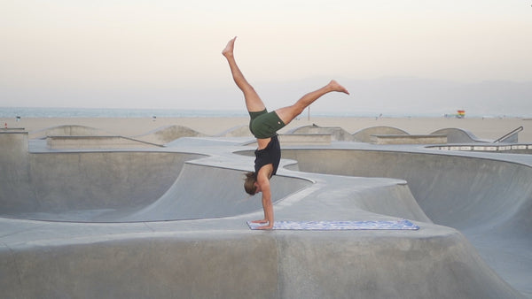 Yoga at Venice Beach Skateboard Park with JJ Cook