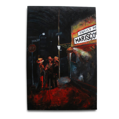 On The Corner - Original Canvas Painting by King Kast
