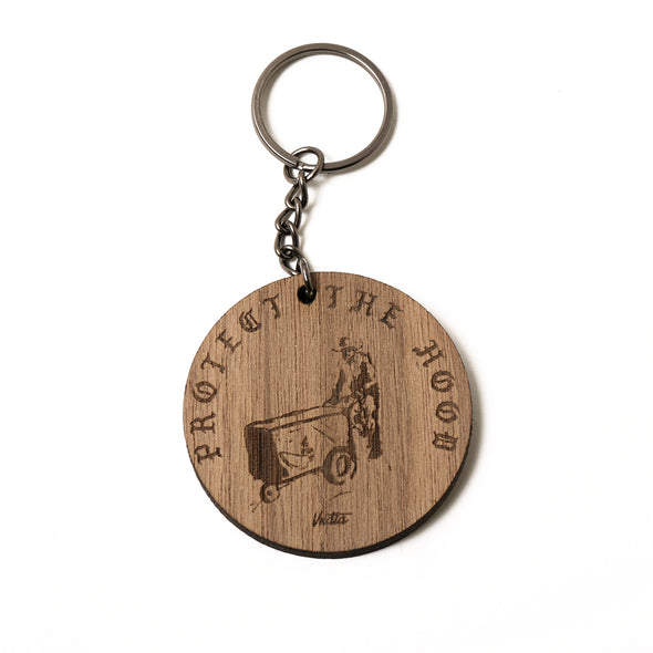 Protect The Hood - El Paletero - Walnut Wood Engraved Keychains