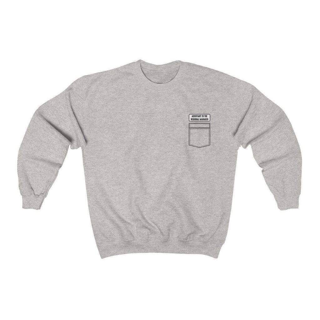 Ash / L Assistant To The Regional Manager Crewneck Sweatshirt - Ivory Parke - Modern Apparel and Trendy Accessories