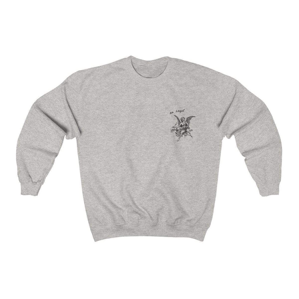 Ash / L No Angel Crewneck Sweatshirt - Ivory Parke - Modern Apparel and Trendy Accessories