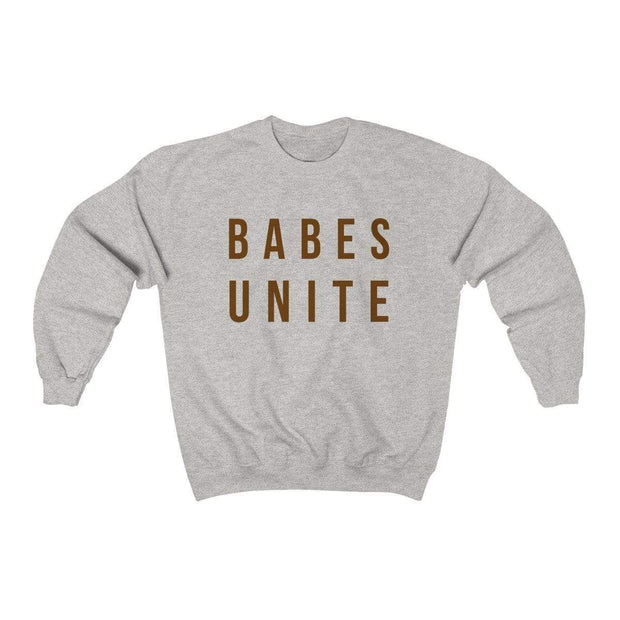 Ash / S Babes Unite Crewneck Sweatshirt - Ivory Parke - Modern Apparel and Trendy Accessories