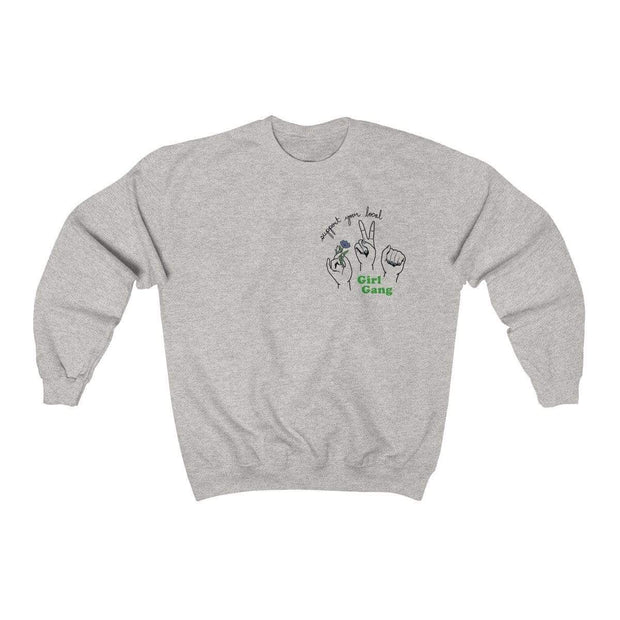 Ash / S Support Your Local Girl Gang Crewneck Sweatshirt - Ivory Parke - Modern Apparel and Trendy Accessories