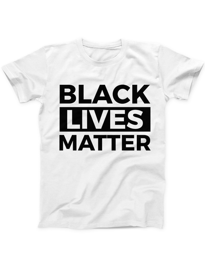 Black Lives Matter Statement Tee - White - Ivory Parke - Modern Apparel and Trendy Accessories