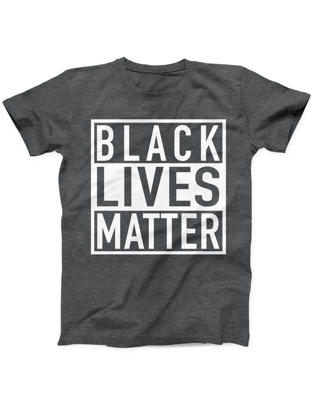 Black Lives Matter Tee - Heather Black - Ivory Parke - Modern Apparel and Trendy Accessories