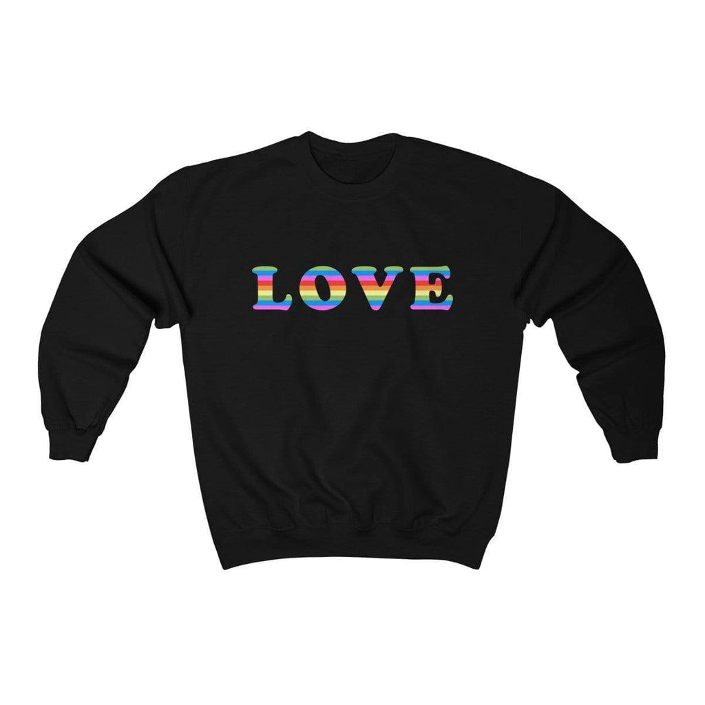 Black / S LOVE Crewneck Sweatshirt - Ivory Parke - Modern Apparel and Trendy Accessories