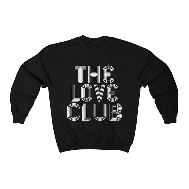 Black / S The Love Club Crewneck Sweatshirt - Ivory Parke - Modern Apparel and Trendy Accessories
