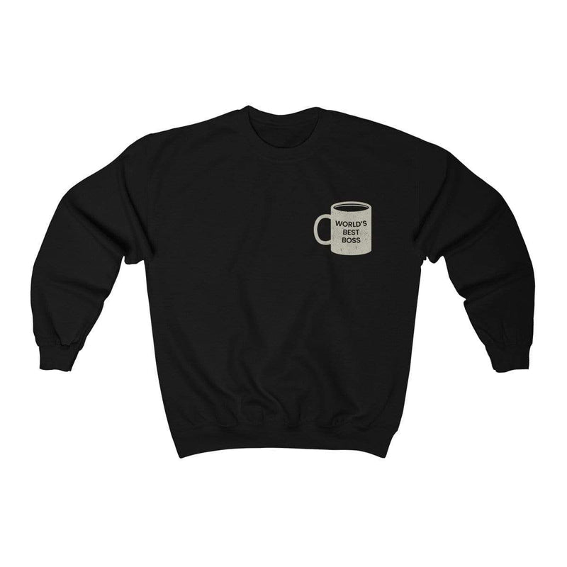 Black / S World's Best Boss Crewneck Sweatshirt - Ivory Parke - Modern Apparel and Trendy Accessories