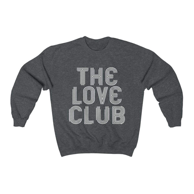 Dark Heather / S The Love Club Crewneck Sweatshirt - Ivory Parke - Modern Apparel and Trendy Accessories