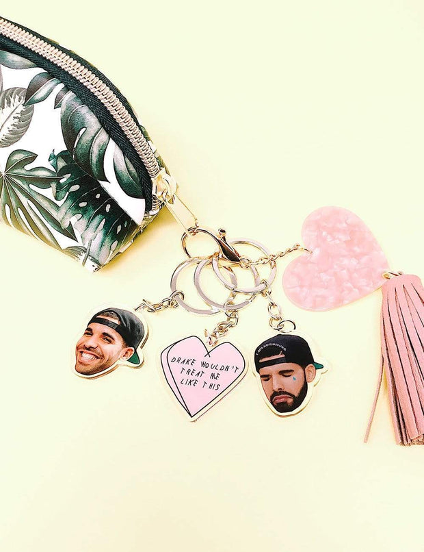 Drizzy Drake with a SnapBack Inspired Keychain - Ivory Parke - Modern Apparel and Trendy Accessories