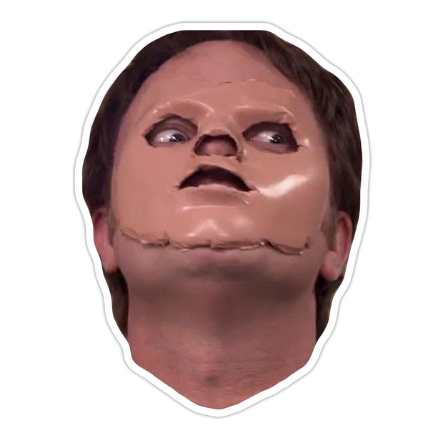 Ivory Parke:Dwight With A Mask Sticker,sale,Ivory Parke