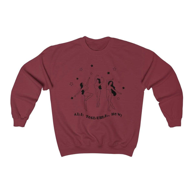 Garnet / S All Together Now Crewneck Sweatshirt - Ivory Parke - Modern Apparel and Trendy Accessories