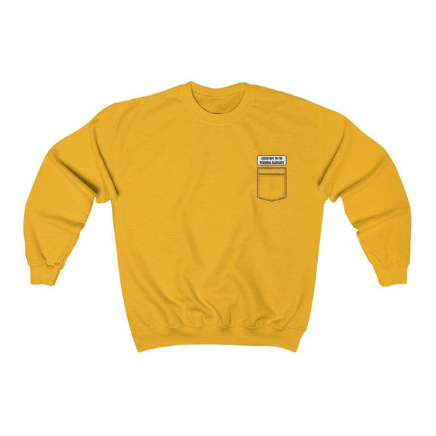 Gold / S Assistant To The Regional Manager Crewneck Sweatshirt - Ivory Parke - Modern Apparel and Trendy Accessories