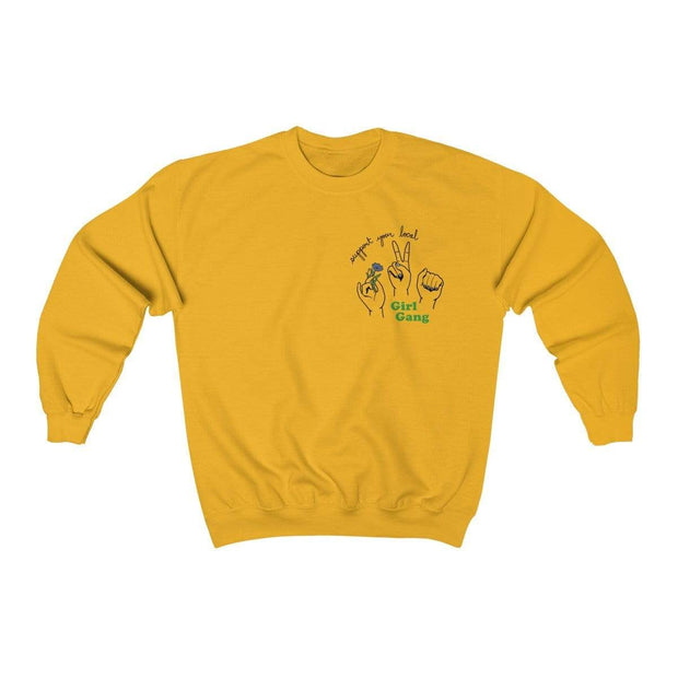 Gold / S Support Your Local Girl Gang Crewneck Sweatshirt - Ivory Parke - Modern Apparel and Trendy Accessories