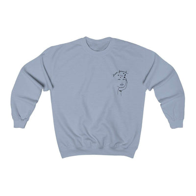 Light Blue / L Dream Forwards Crewneck Sweatshirt - Ivory Parke - Modern Apparel and Trendy Accessories