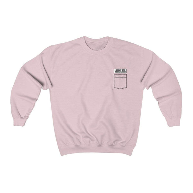 Light Pink / S Assistant To The Regional Manager Crewneck Sweatshirt - Ivory Parke - Modern Apparel and Trendy Accessories