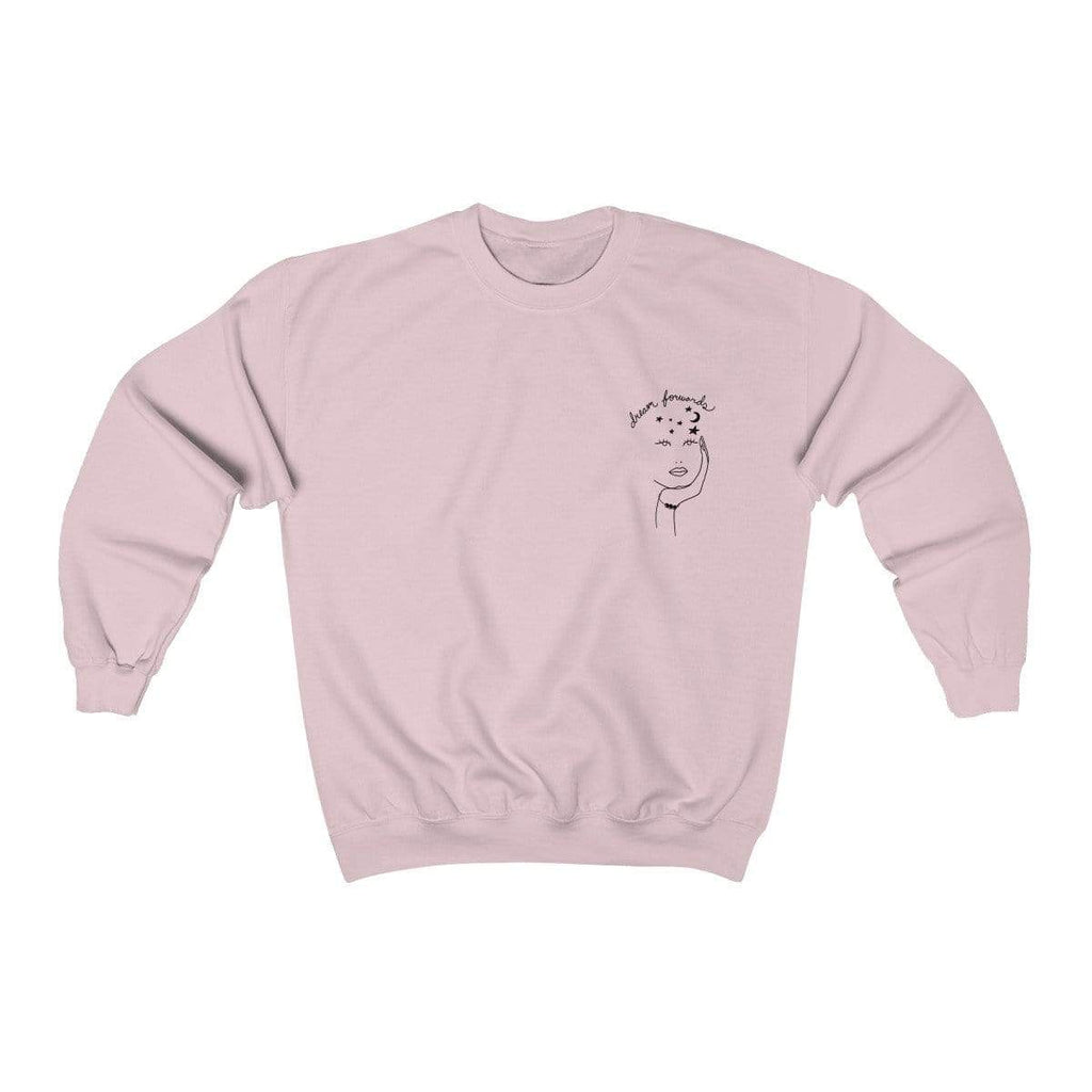 Light Pink / S Dream Forwards Crewneck Sweatshirt - Ivory Parke - Modern Apparel and Trendy Accessories