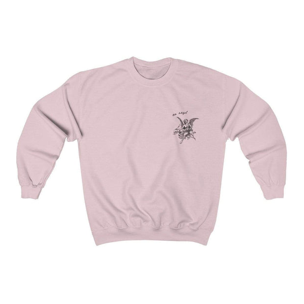 Light Pink / S No Angel Crewneck Sweatshirt - Ivory Parke - Modern Apparel and Trendy Accessories
