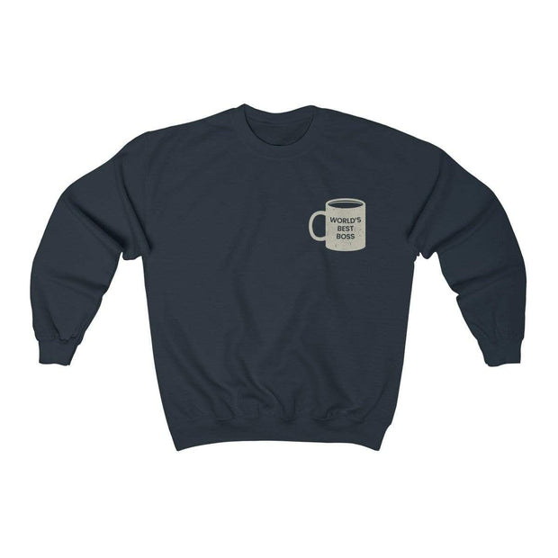 Navy / L World's Best Boss Crewneck Sweatshirt - Ivory Parke - Modern Apparel and Trendy Accessories