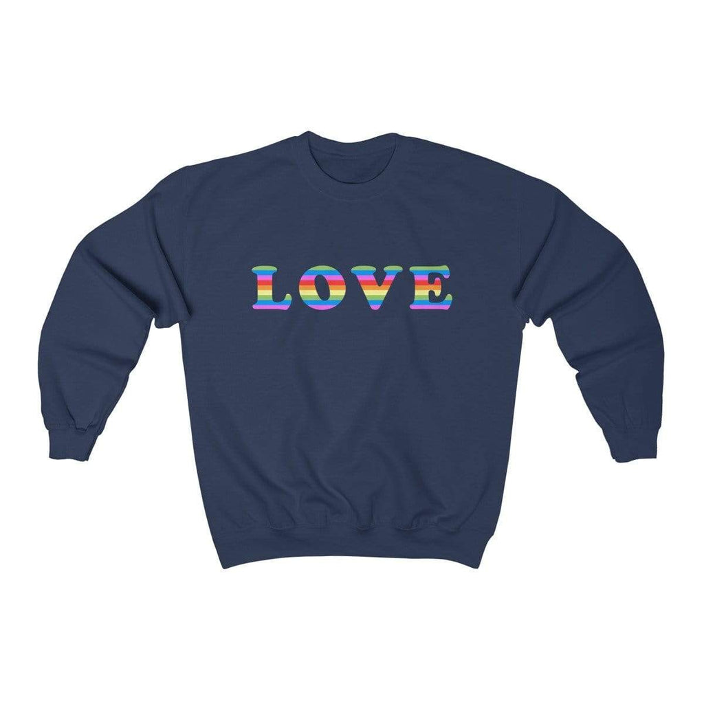 Navy / S LOVE Crewneck Sweatshirt - Ivory Parke - Modern Apparel and Trendy Accessories