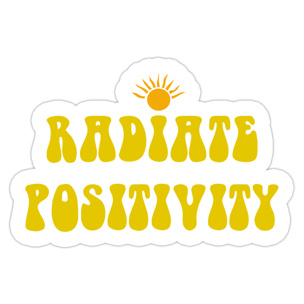 Ivory Parke:Radiate Positivity Sticker,sale,Ivory Parke