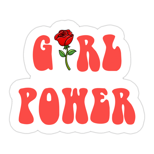 Ivory Parke:Retro Girl Power Sticker,Sale,Ivory Parke