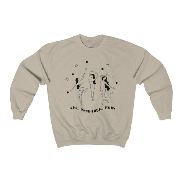 Sand / L All Together Now Crewneck Sweatshirt - Ivory Parke - Modern Apparel and Trendy Accessories