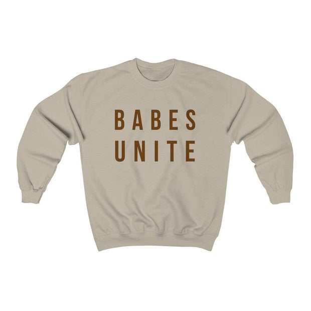 Sand / L Babes Unite Crewneck Sweatshirt - Ivory Parke - Modern Apparel and Trendy Accessories