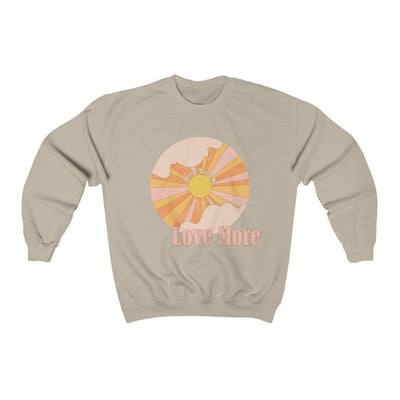 Sand / L Hate Less & Love More Crewneck Sweatshirt - Ivory Parke - Modern Apparel and Trendy Accessories