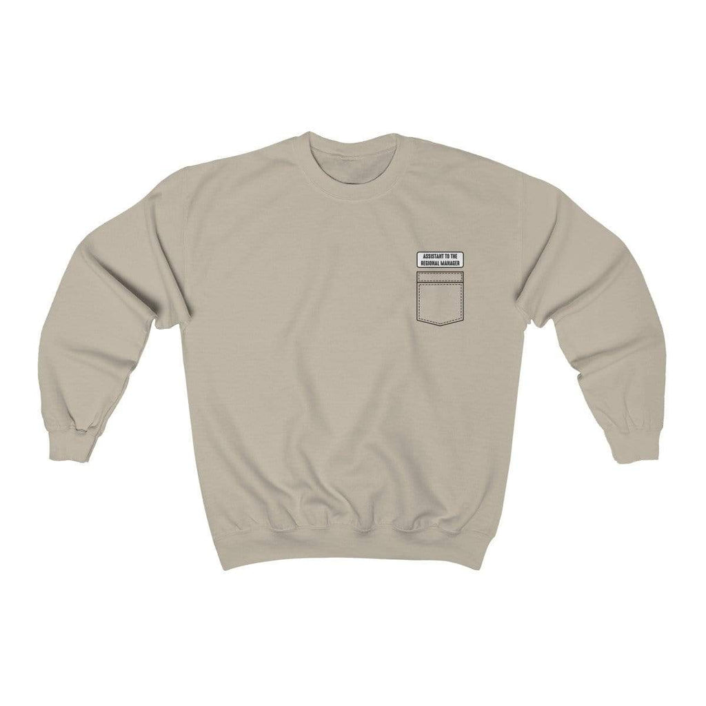 Sand / S Assistant To The Regional Manager Crewneck Sweatshirt - Ivory Parke - Modern Apparel and Trendy Accessories
