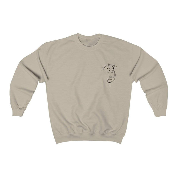 Sand / S Dream Forwards Crewneck Sweatshirt - Ivory Parke - Modern Apparel and Trendy Accessories