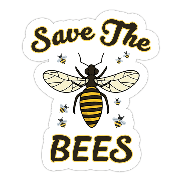 Ivory Parke:Save The Bees Sticker,Sale,Ivory Parke