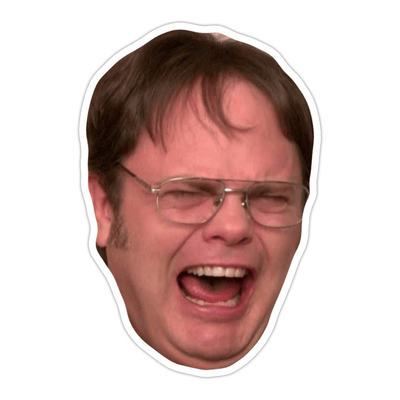 Ivory Parke:Screaming Dwight Schrute Sticker,Sale,Ivory Parke