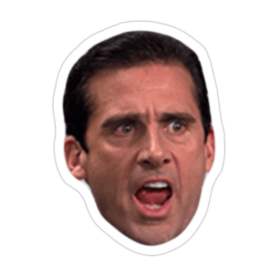 Ivory Parke:Screaming Michael Scott Sticker,Sale,Ivory Parke