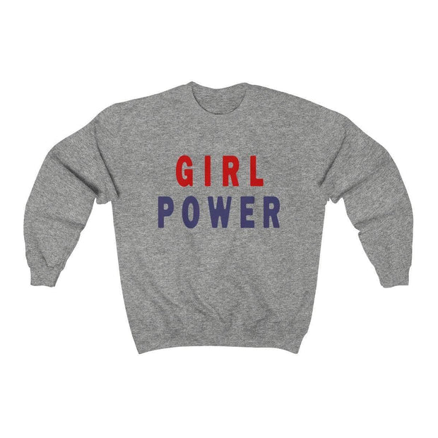 Sport Grey / L Girl Power Crewneck Sweatshirt - Ivory Parke - Modern Apparel and Trendy Accessories