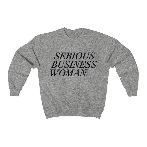 Sport Grey / S Serious Business Woman Crewneck Sweatshirt - Ivory Parke - Modern Apparel and Trendy Accessories