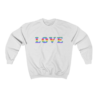 White / L LOVE Crewneck Sweatshirt - Ivory Parke - Modern Apparel and Trendy Accessories