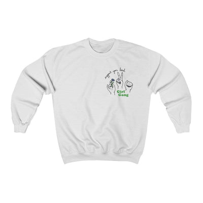 White / L Support Your Local Girl Gang Crewneck Sweatshirt - Ivory Parke - Modern Apparel and Trendy Accessories