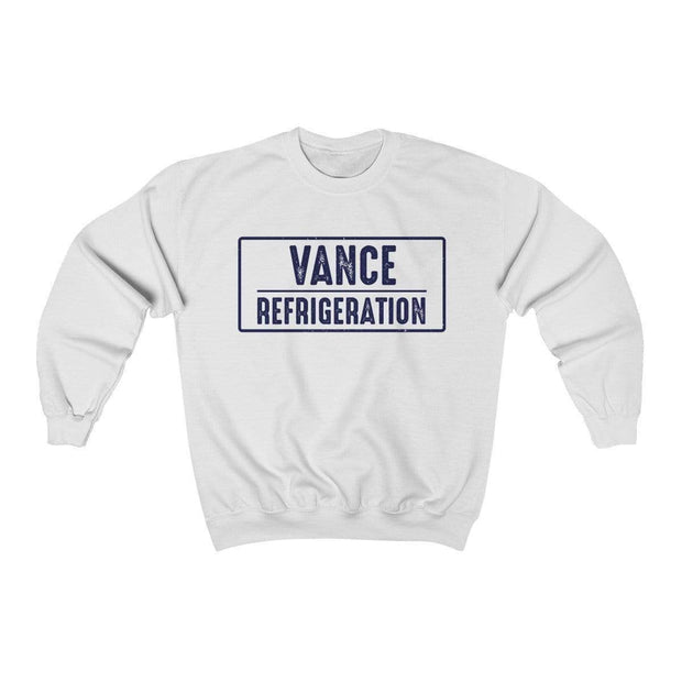White / L Vance Refrigeration Crewneck Sweatshirt - Ivory Parke - Modern Apparel and Trendy Accessories