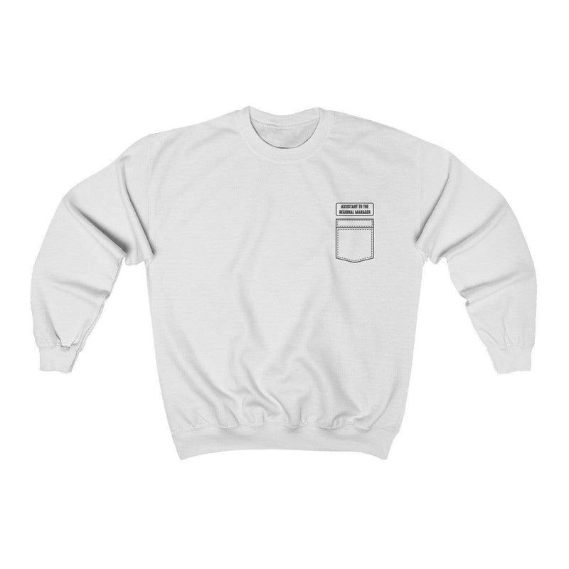 White / S Assistant To The Regional Manager Crewneck Sweatshirt - Ivory Parke - Modern Apparel and Trendy Accessories