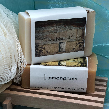 2 Bars Gift Pack includes Wooden Soap Dish &  Personal Puff