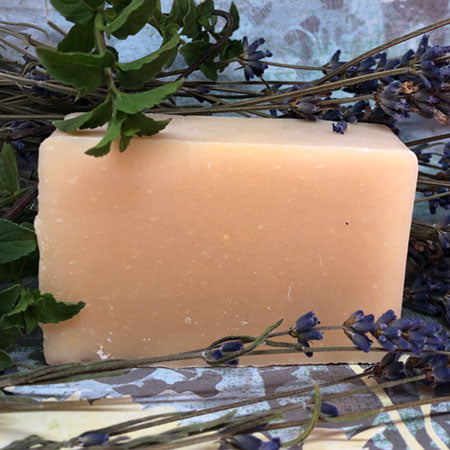 Lavender and Mint Essential Oil Goat's Milk Soap
