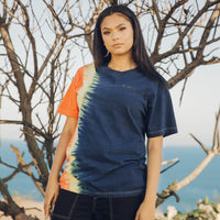 TSNMI Offset Tie Dye Tee Navy/Red