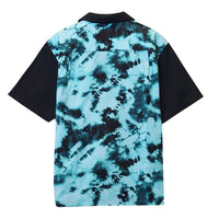 Tie Dye Button Up - Black/Teal